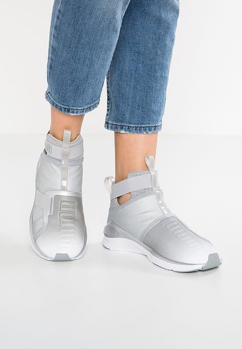 FIERCE STRAP METALLIC - Sneakers hoog - silver/white @ Zalando.nl  <div class=