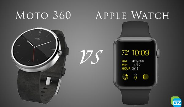 Moto 360•• Android Wear SmartWatch 2014 vs AppleWatch