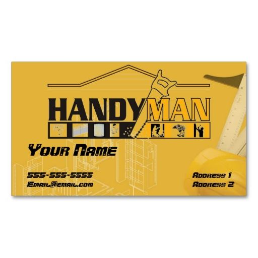 Handy Man Business Card Handy Man Construction Business Cards - Handyman business card template