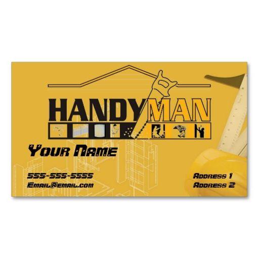 Handy man business card handy man construction business cards handy man business card reheart Choice Image