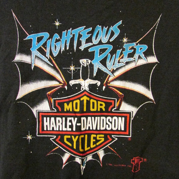 941c9ba3 Vintage Early 90's Harley Davidson T Shirt Righteous by Twinfinity, $15.00