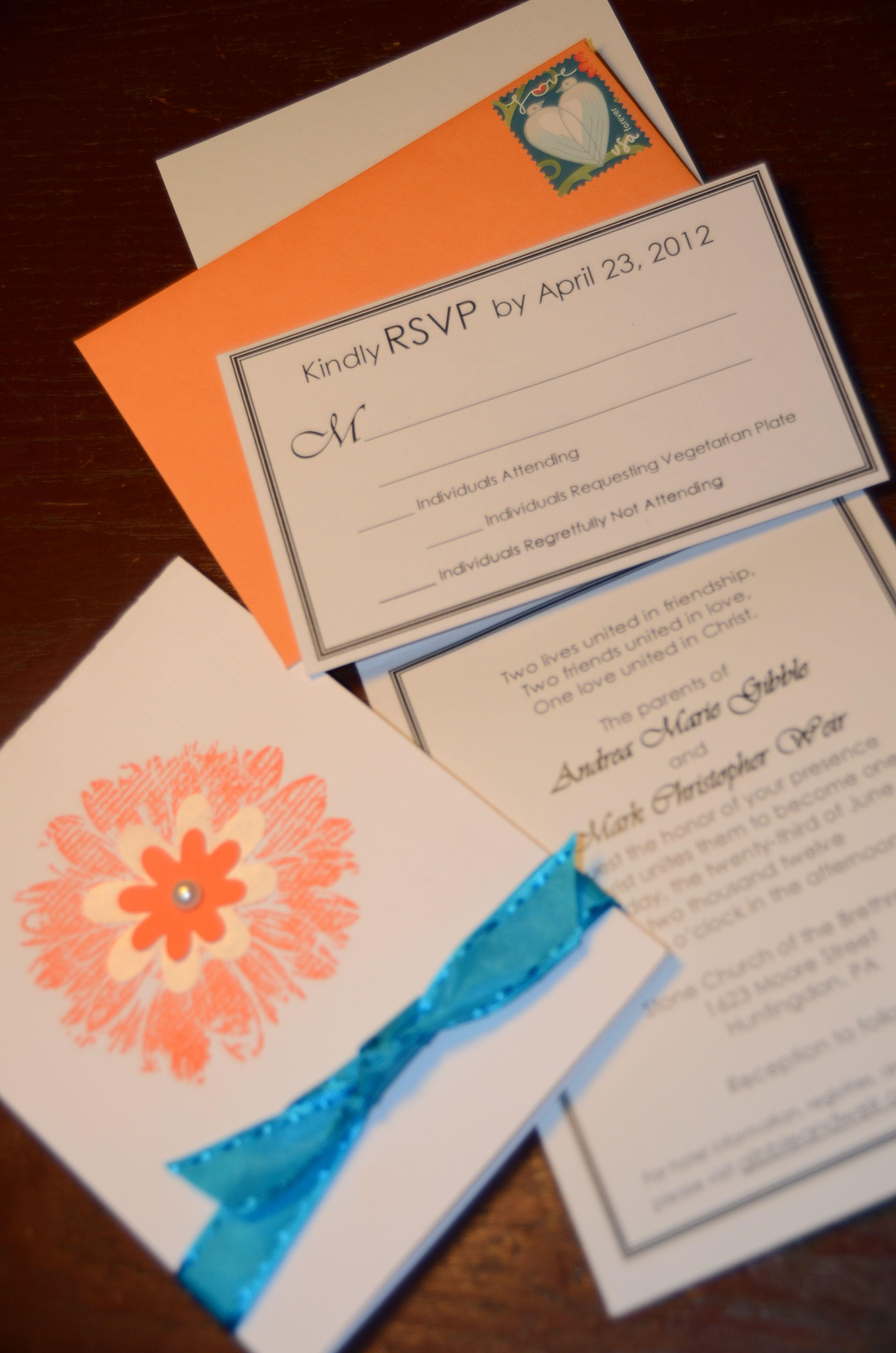 Diy wedding invitations yep i did i think i can