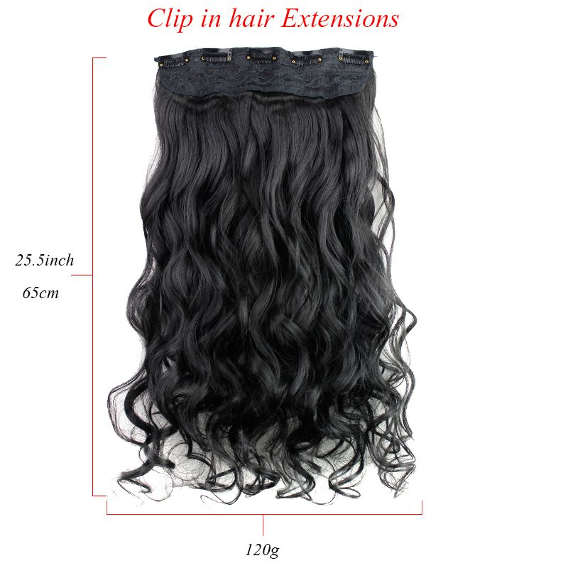 Long Curly Weave 5 Clip In Synthetic Hair Extensions Clip In Hair