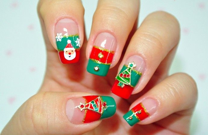 Ms de 20 diseos de uas para navidad christmas nail art today we have another photo collection of great mismatched christmas nail designs these nail designs include combinations of several christmas symbols prinsesfo Image collections