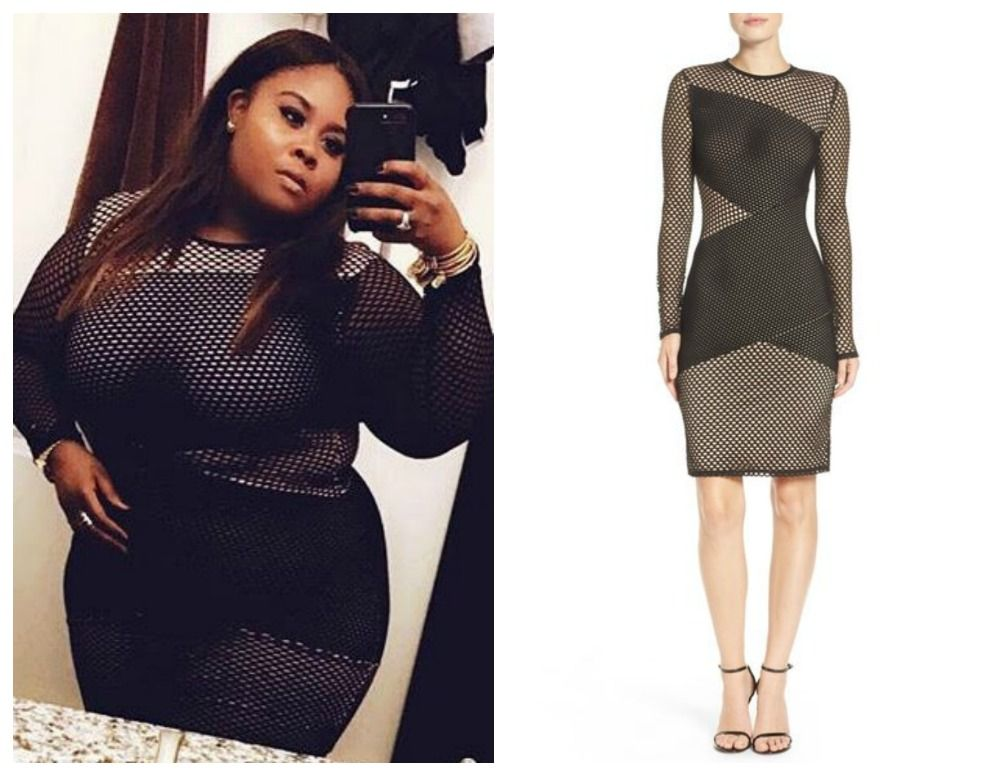 eee897a0b2a Actress Raven Goodwin Shows Off Curves In A BCBG Mesh Dress (Stylish ...