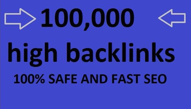 So you get free hundreds of thousands of quality backlinks