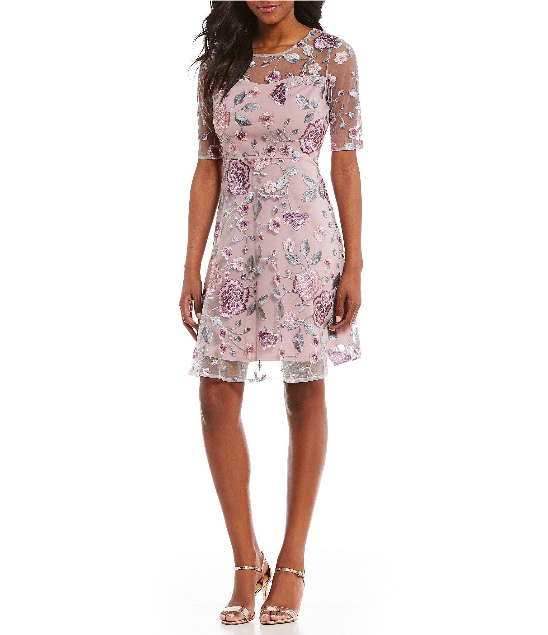 fdaa3dc29c4f Shop for Jax Floral Embroidered A-line Dress at Dillards.com. Visit Dillards.com  to find clothing, accessories, shoes, cosmetics & more.