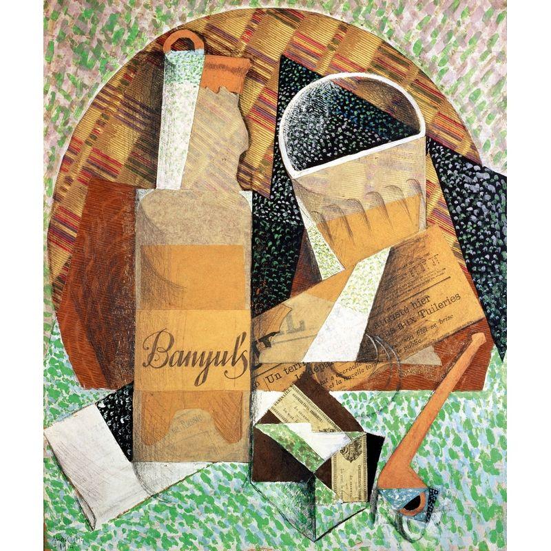 Puzzle Gris Juan La bouteille de Banyuls Puzzle Michèle
