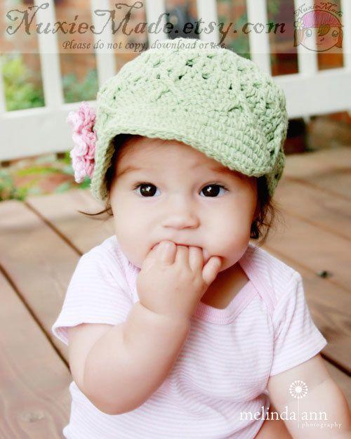 e44cf911ddd Green Newsboy for Baby Girl