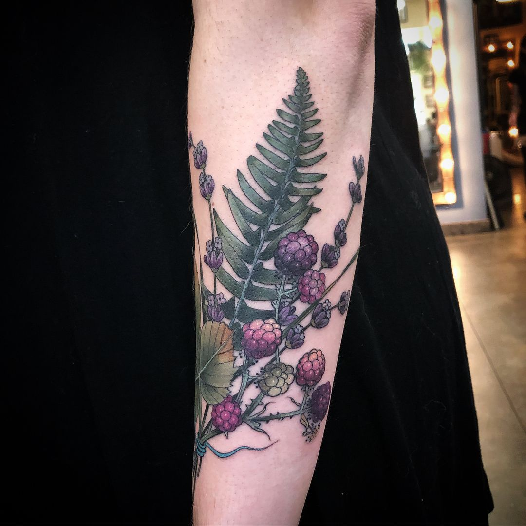 A Little Up For Grabs Of Blackberry Lavender And Fern For Alex