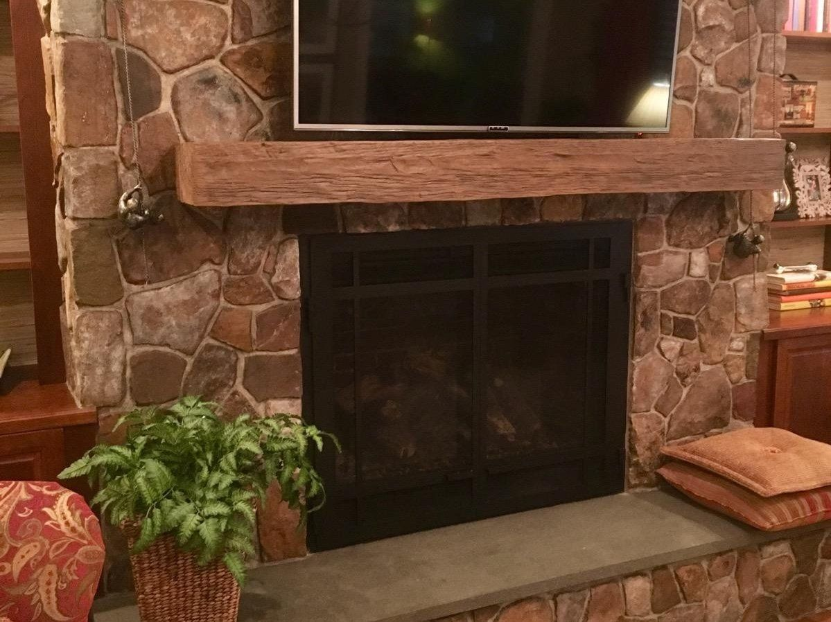 Old Timber Faux Wood Fireplace Mantels