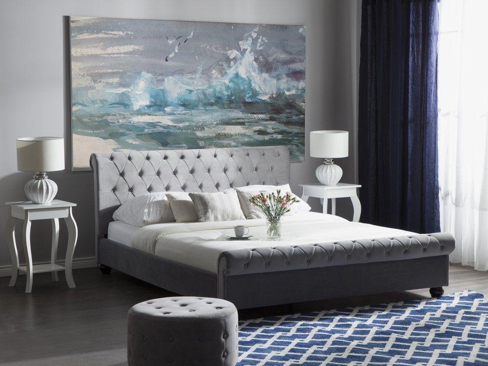 Velvet Eu Super King Size Bed Pink Avallon Upholstered Beds