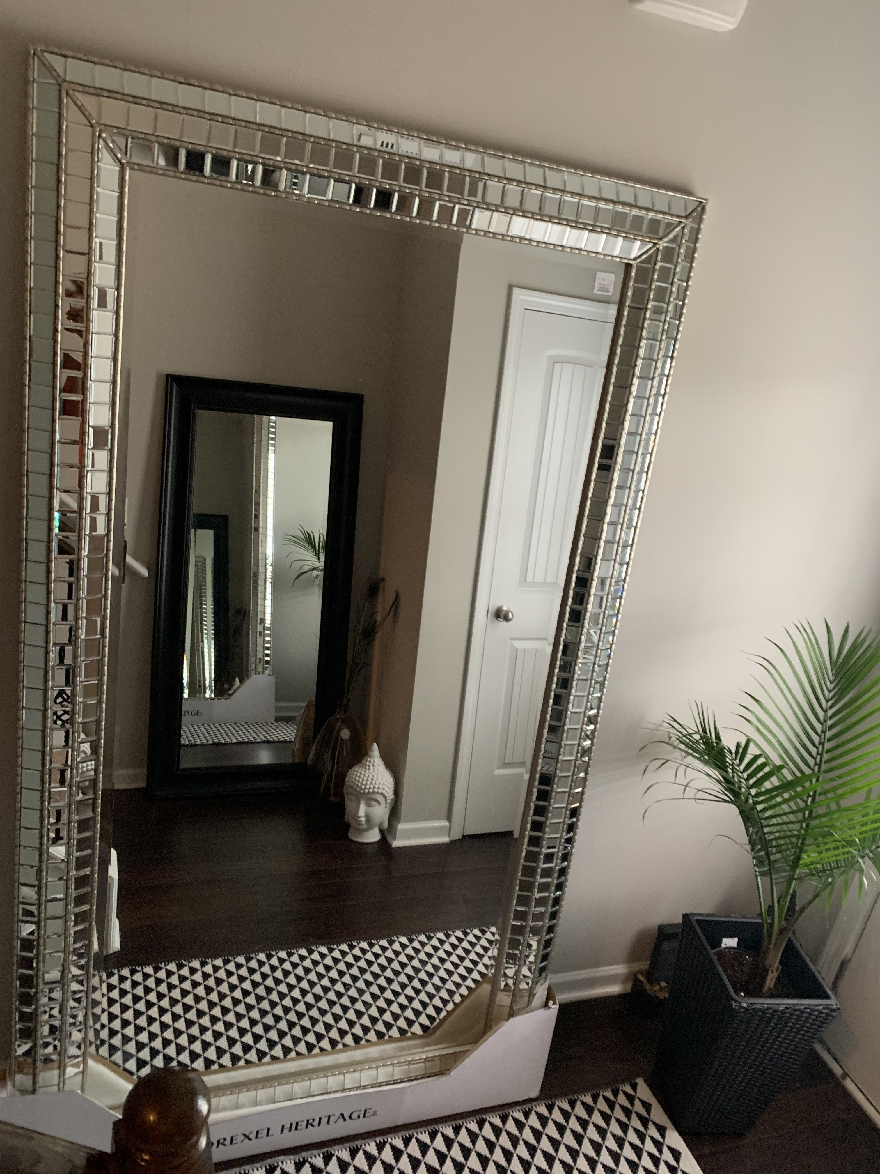 Drexel Heritage Large Floor Mirror From Home Goods So In Loveeee Floor Mirror Living Room Oversized Floor Mirror Large Floor Mirror