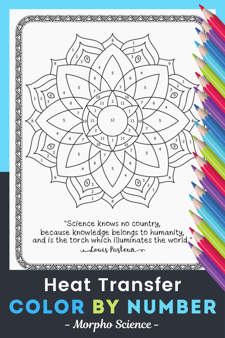 Heat Transfer Worksheet Color By Number Heat Transfer Mandala Coloring Pages Science