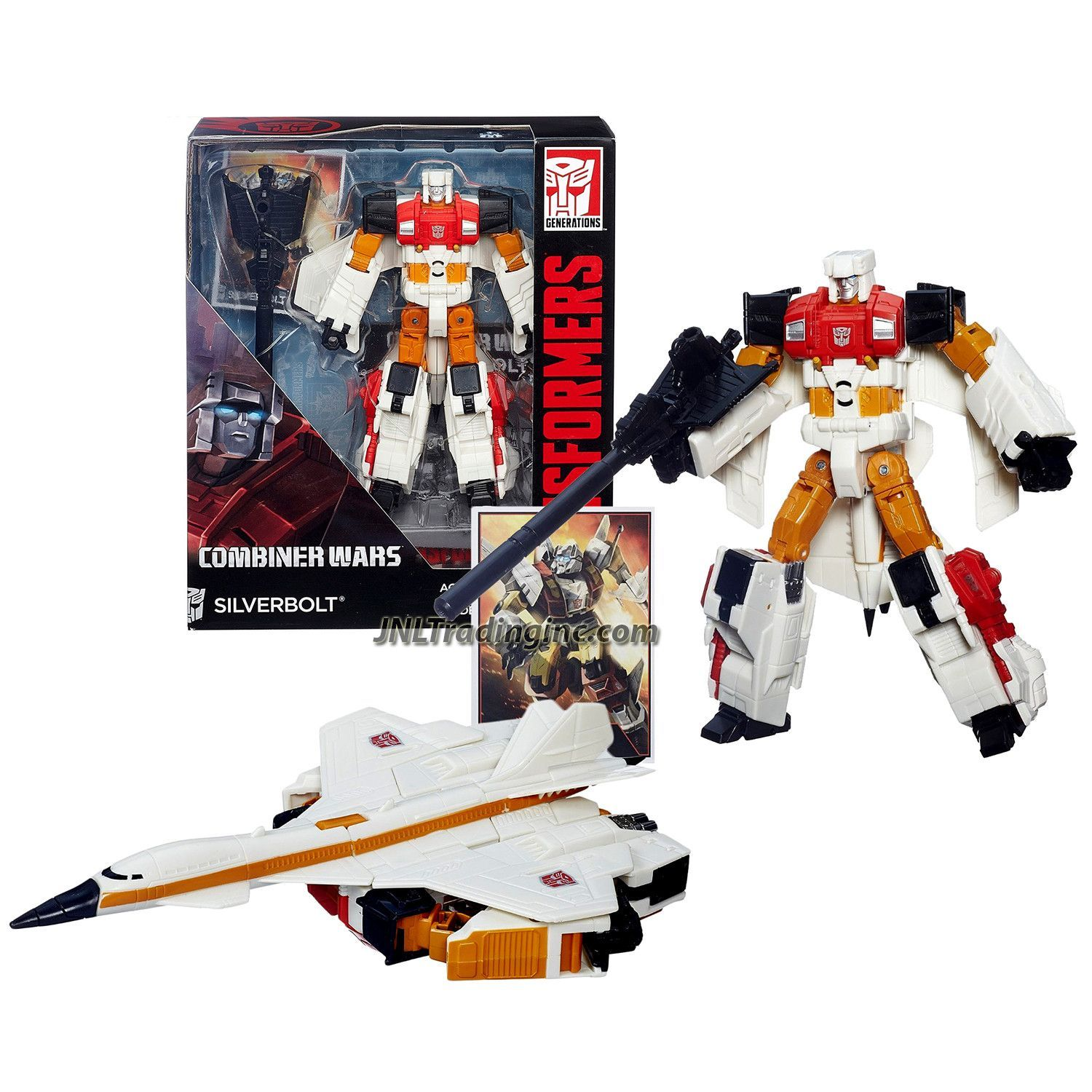 HASBRO TRANSFORMERS COMBINER WARS VOYAGER CLASS SILVERBOLT ACTION FIGURES TOY