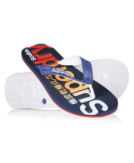 #superdry Superdry men's Scuba logo faded flip flops. These beach flip flops  feature a