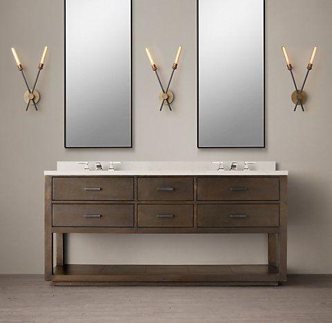 La Salle MetalWrapped Washstand Bath Collection RH Bathroom - Rh bathroom