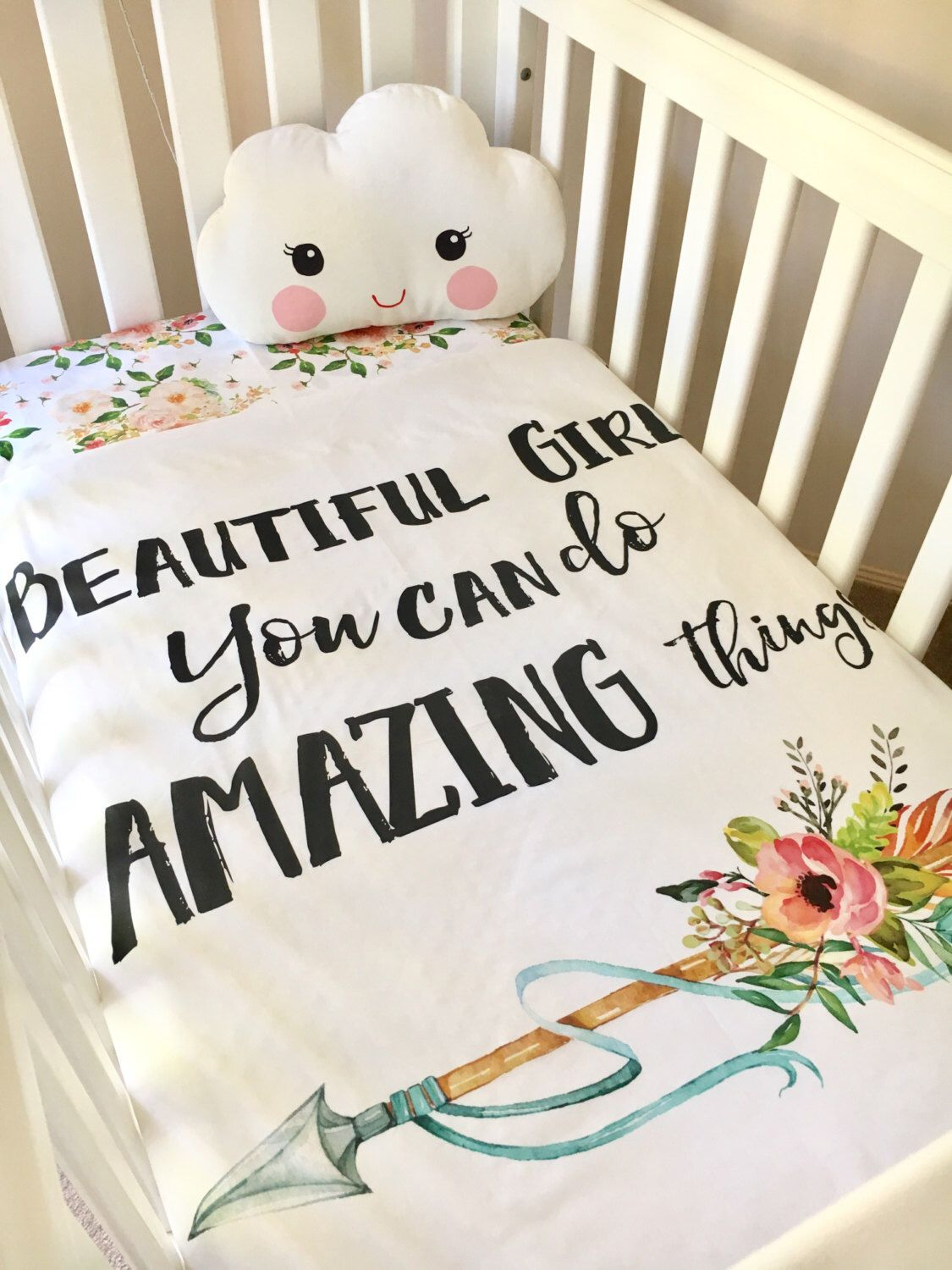 A Personal Favourite From My Etsy Shop Https Www Etsy Com Au Listing 502143373 Baby Cot Crib Quilt Blanket Beau Girl Nursery Crib Baby Girls Nursery Baby Cot