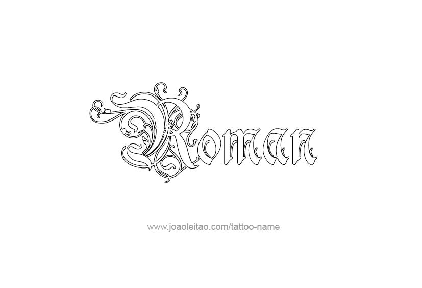 Roman Name Tattoo Designs | Name tattoos, Tattoo designs ...