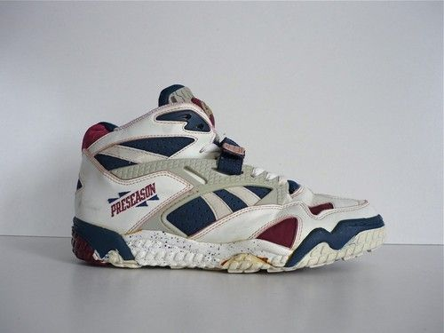 f214220ad1e02 90`S VINTAGE REEBOK THE PUMP PRESEASON BASKETBALL HI TOPS SHOES 80`S SHAQ  ATTAQ