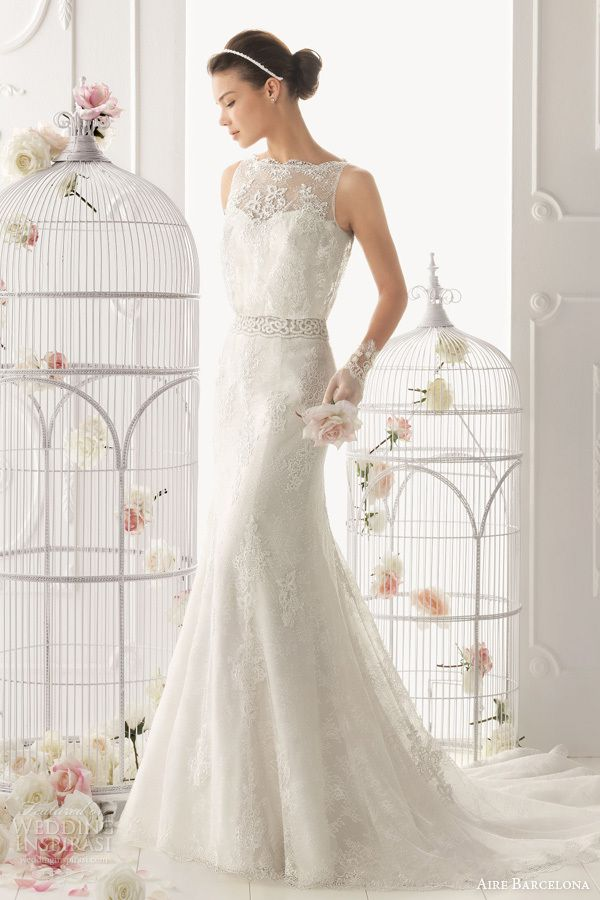 Aire Barcelona Is A Famous Wedding Dress Designer In Spanish