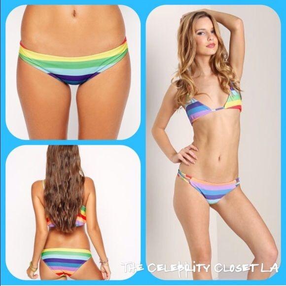NWT wildfox rainbow bikini top✨ Beautiful brand new w tags rainbow bikini fits Xs-S. Also s and M available Wildfox Swim Bikinis