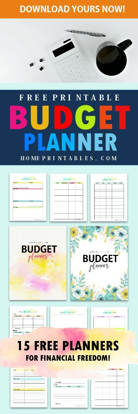 Start Your Journey To Financial Wellness With This Free Printable Budget Binder 2018 Budgetbinder Planner Printables Budgeting