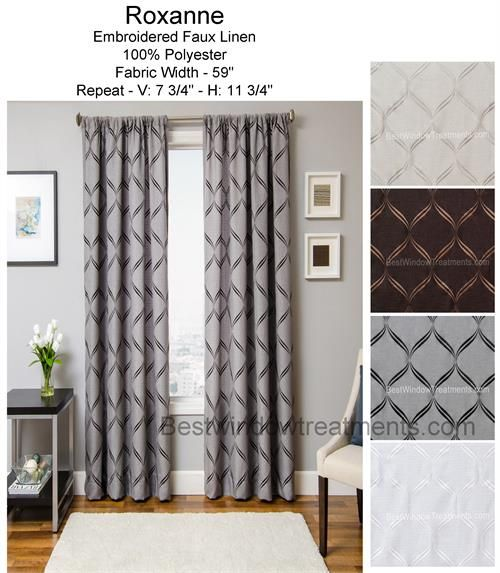 Roxanne Curtain Drapery Panel Ready Made D Sewn In The Usa Choose From
