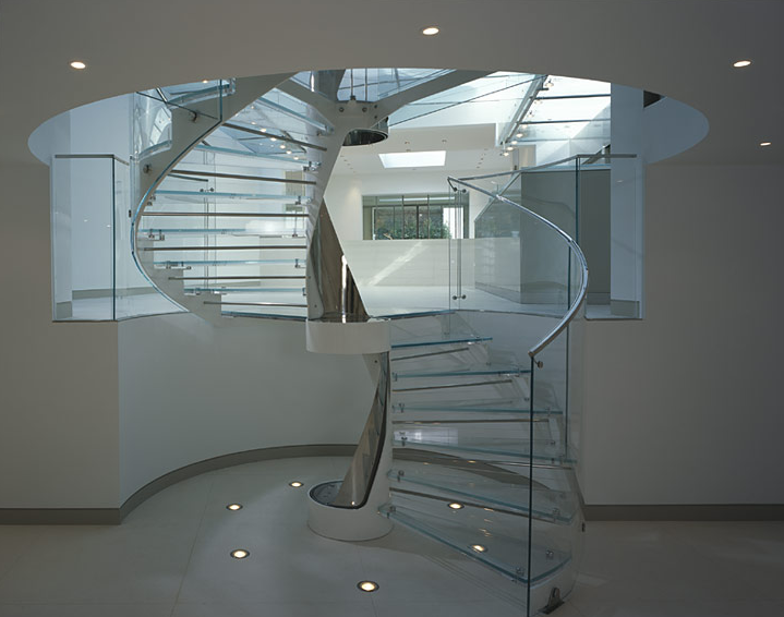 Private Residence With Glass Staircase