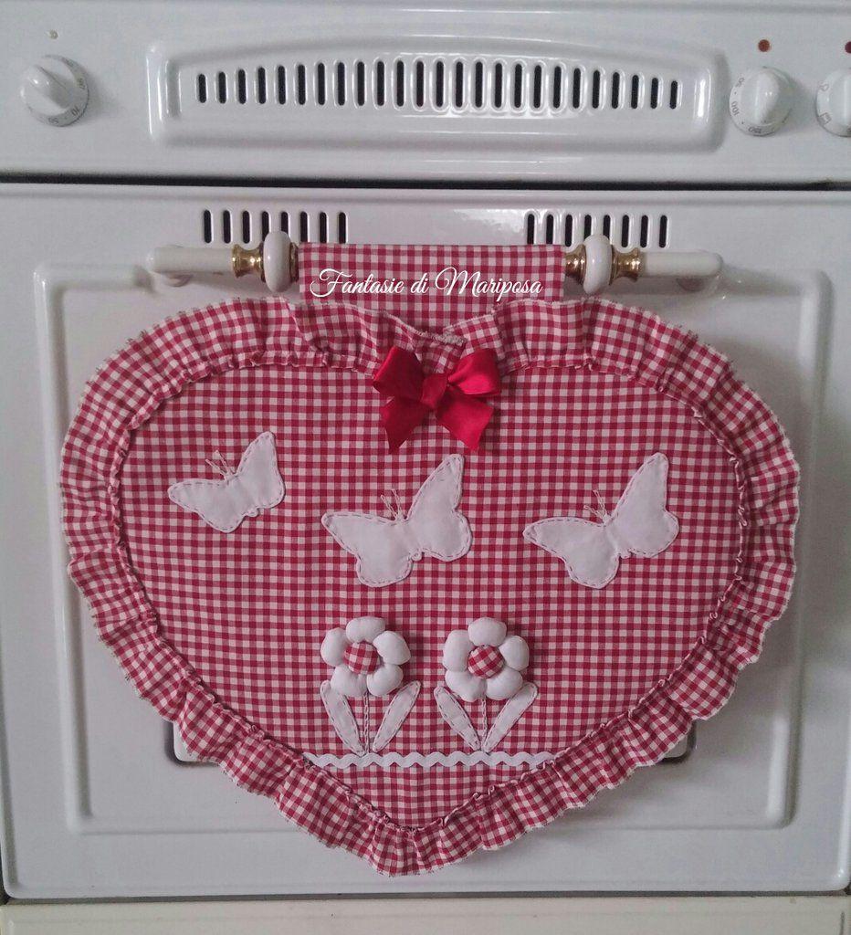 Copriforno cuore country chic artigianato da cucito for Ti regalo cucine