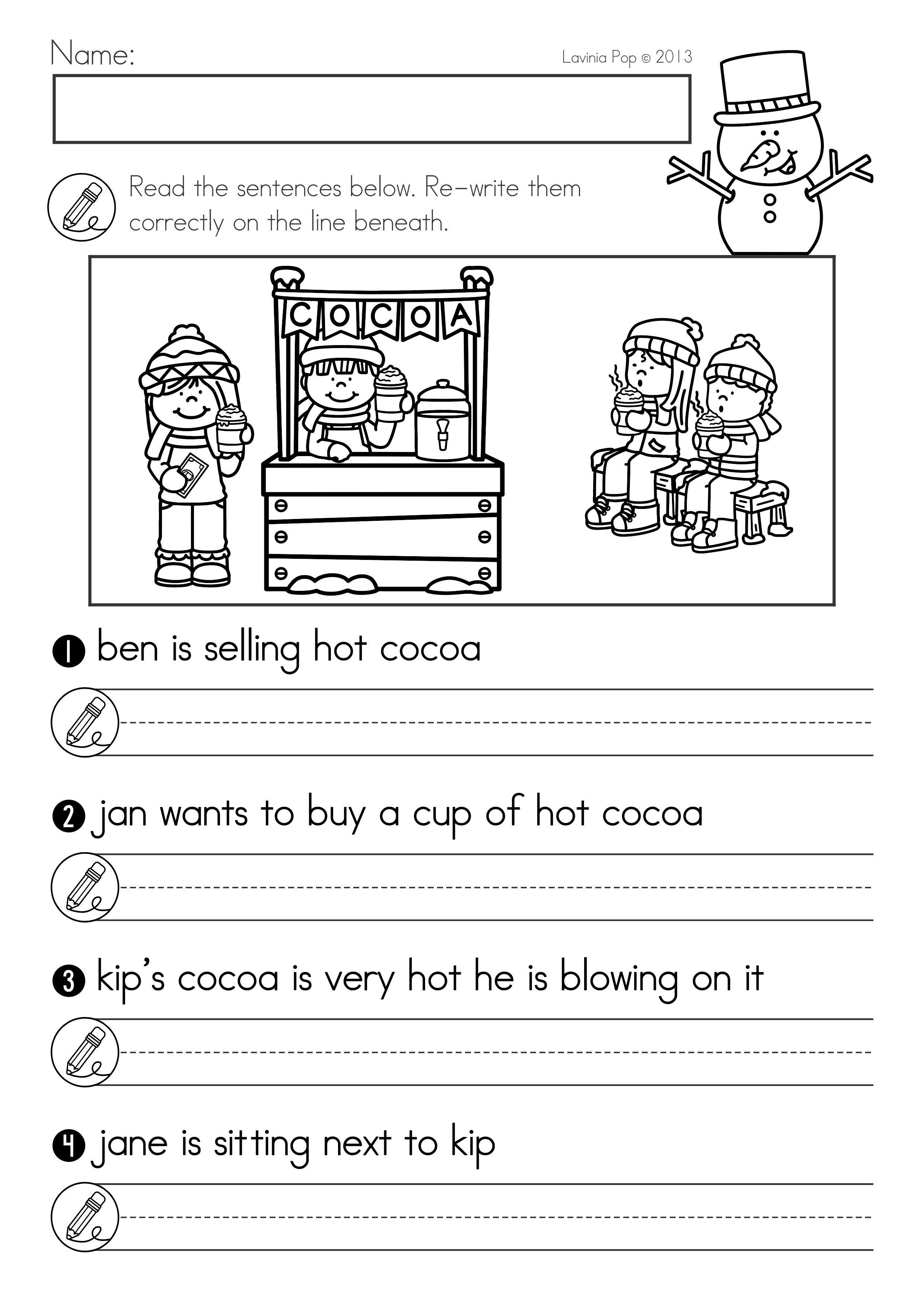 Punctuation Worksheets For 2nd Grade