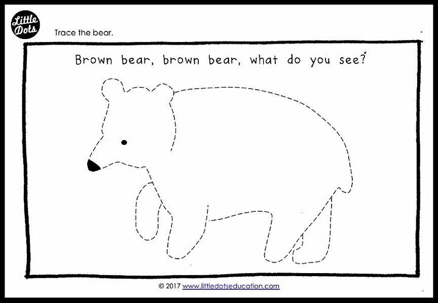 Brown Bear, Brown Bear, What Do You See? Theme Pre-Writing