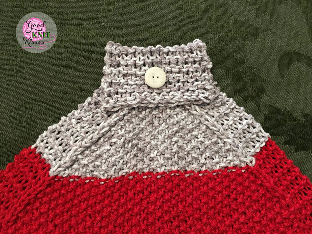 Make a Loom Knit Hanging Kitchen Towel with this free pattern and ...