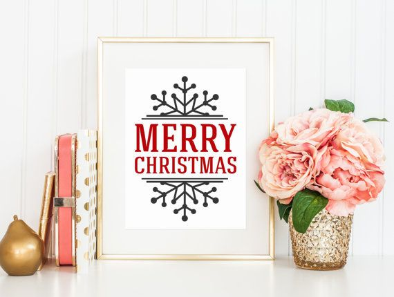 INSTANT DOWNLOAD Art Print  Merry Christmas by BelleHanahPaperie