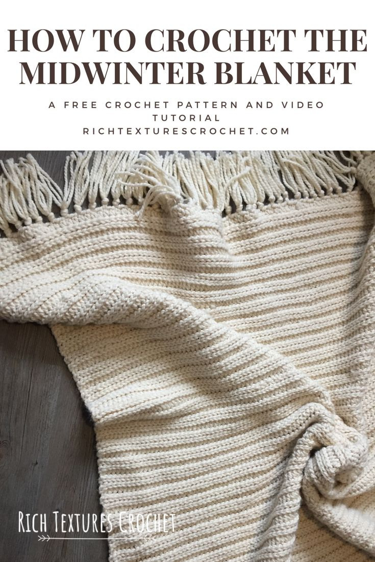 Midwinter Blanket - Free crochet Pattern and Video