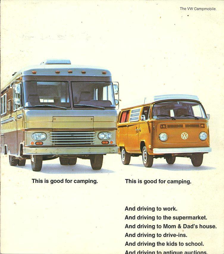 1976 VW Campmobile Advertisement