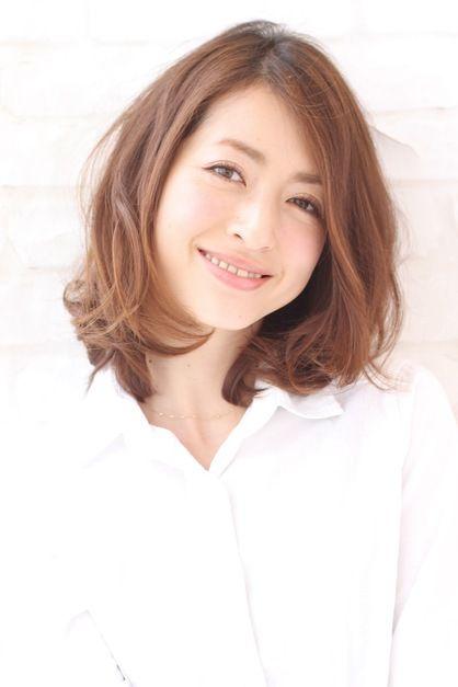 井川遥さん風 ミディアムパーマヘア Xelhaのヘアスタイル