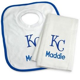 Kansas city royals personalized bib and burp cloth gift set kansas kansas city royals personalized bib and burp cloth gift set kansas city royals at designs by negle Choice Image