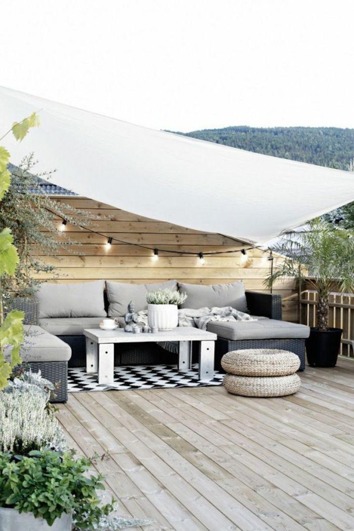 dekoideen terrasse schöne terrasse dezent eingerichtet dekoration ... - Schone Balkon Und Terrasse Gestaltung Akzente