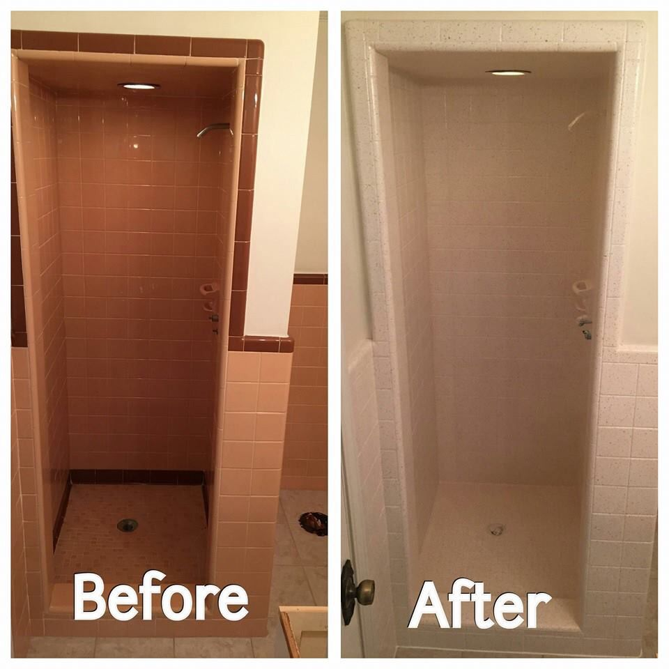 This #customer wanted to #refinish the walk in #shower and all the ...