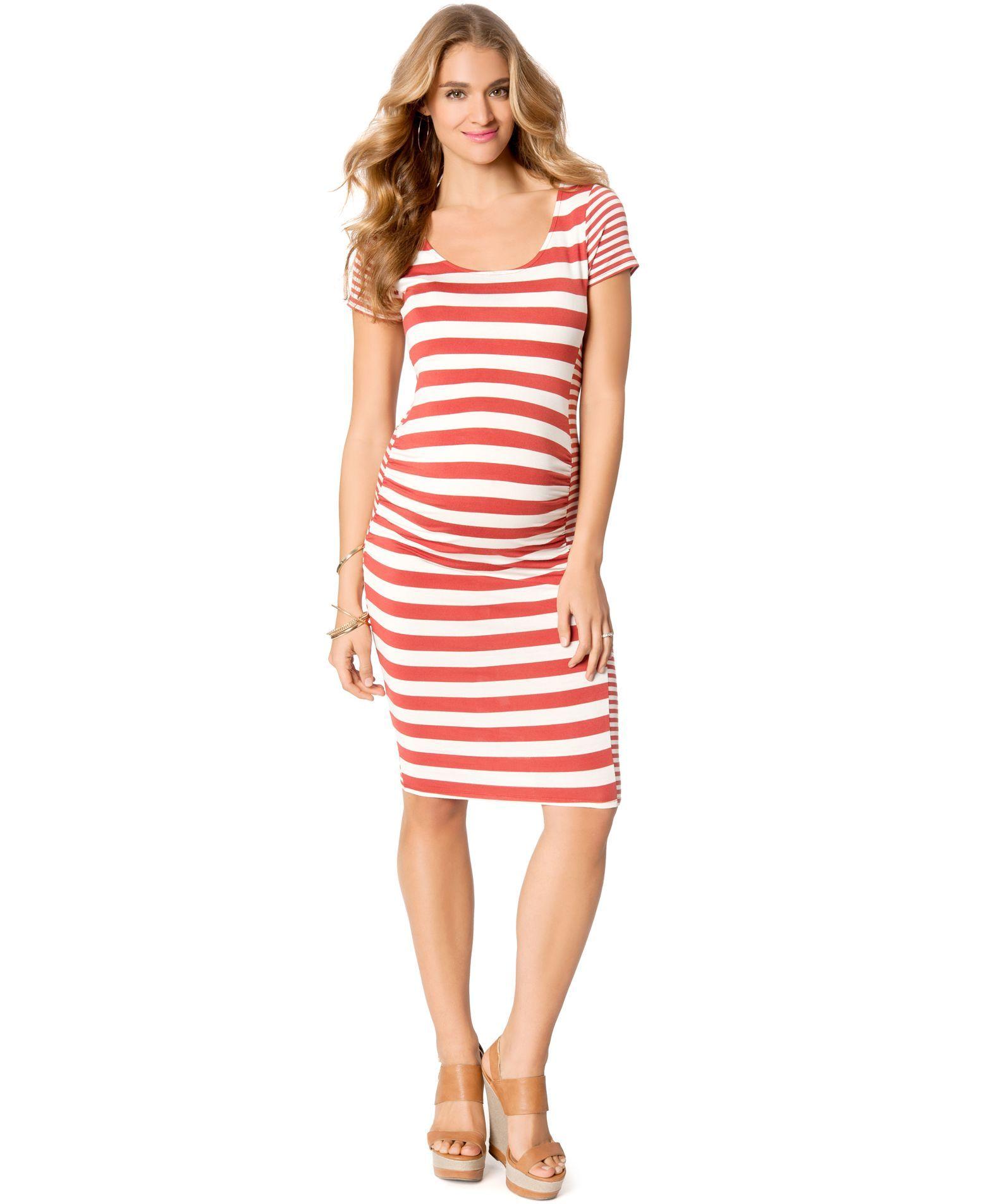 Jessica Simpson Maternity Striped Bodycon Dress | Family | Pinterest