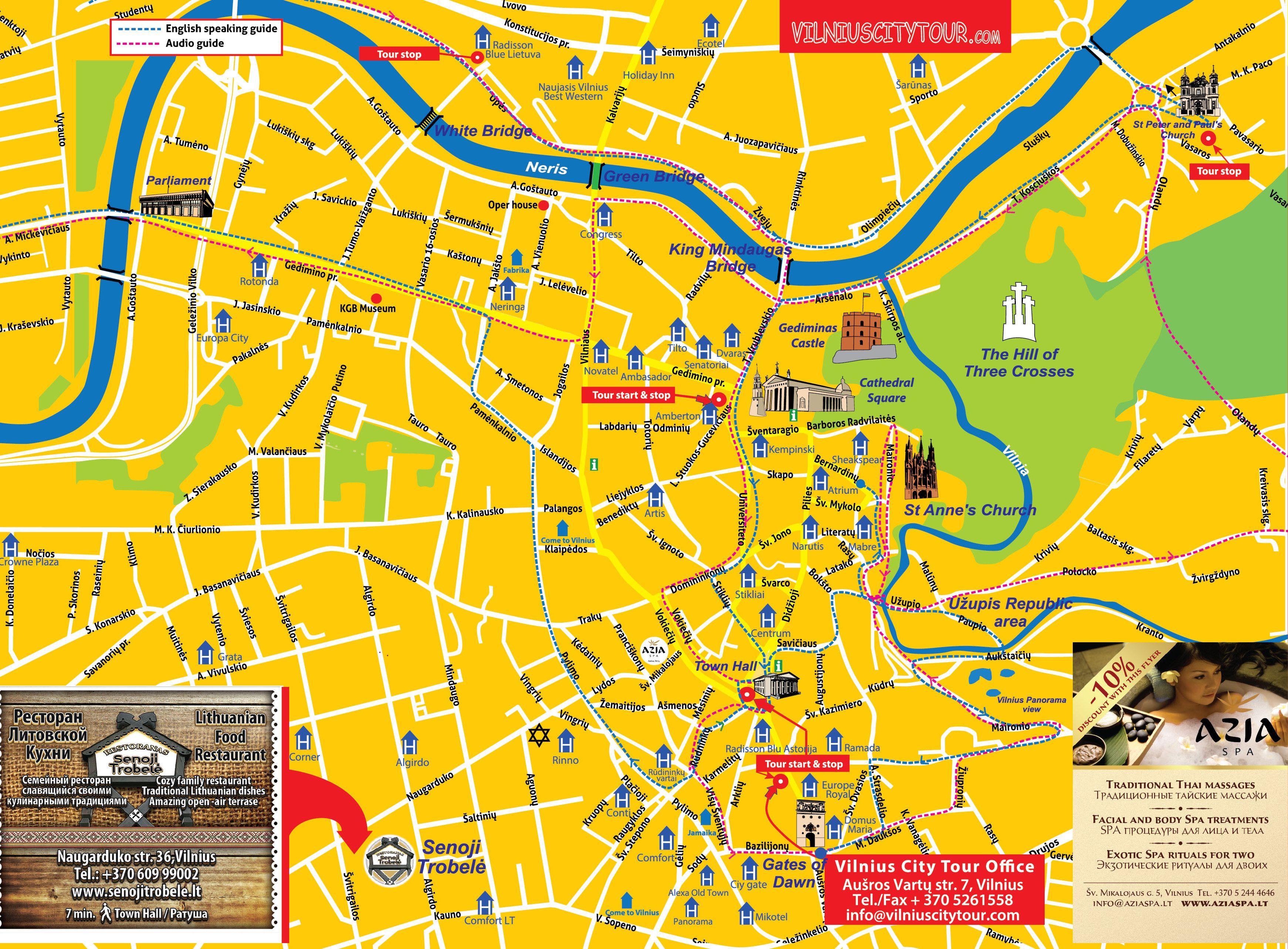 VILNIUS City Map Places To Visit Pinterest City Maps And City - Vilnius map