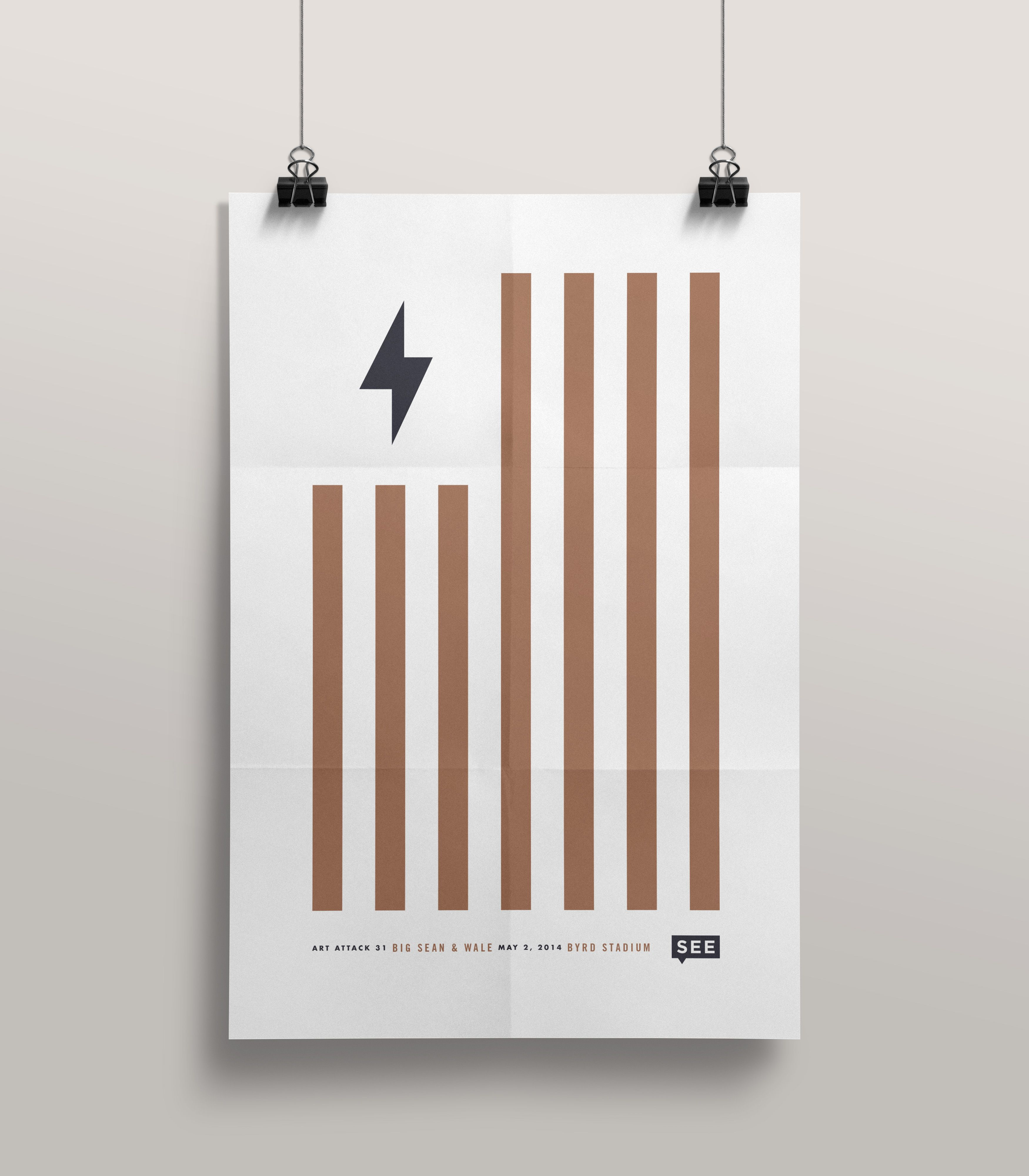 Minimalistic and bold - Art Attack 31poster | Designer: Chris Allen