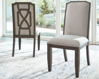 Zimbroni Dining Room Chair Set Of 2 By Ashley Homestore Beige