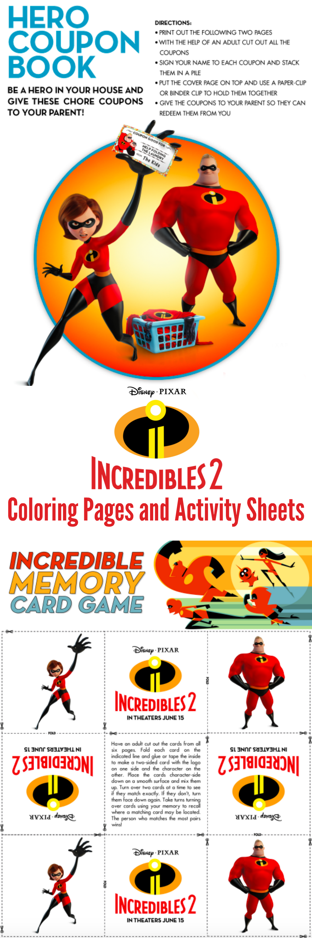 Find Your Supersuit And Get Ready For Some Incredibles 2 Fun When You Download These Incredibles 2 Coloring P Disney Activities The Incredibles Activity Sheets