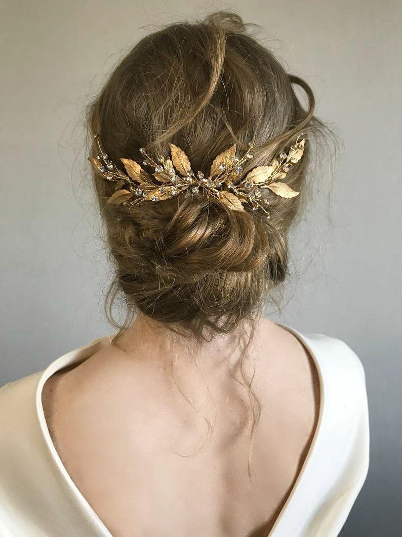 Bridal Hair Comb Gold Greek Wedding Headpiece  Goddess | Etsy