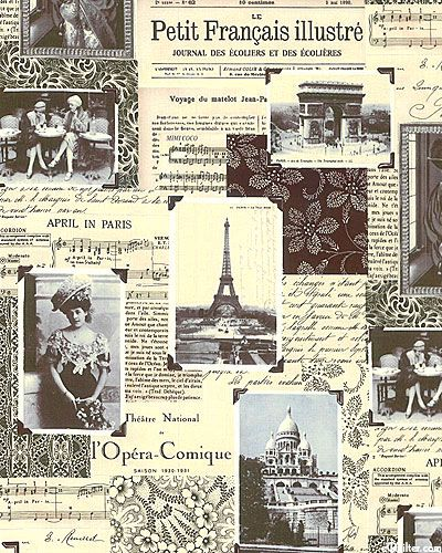 April in Paris - Parisian Collage - Quilt Fabrics from www,eQuilter.com