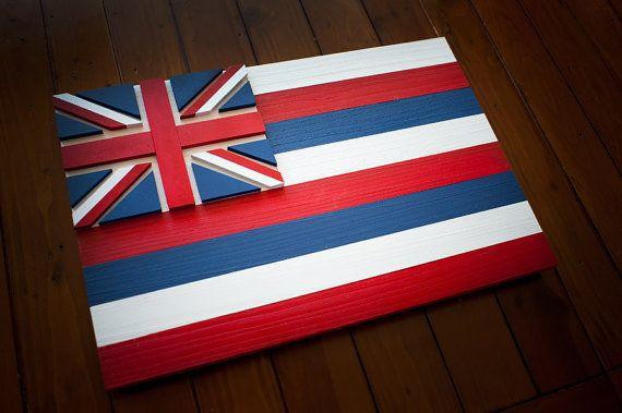 Hawaii Wood Flag Hawaii Wooden Flag Hawaii Flag Hawaiian Etsy Wooden Flag Wood Flag Hawaii Flag