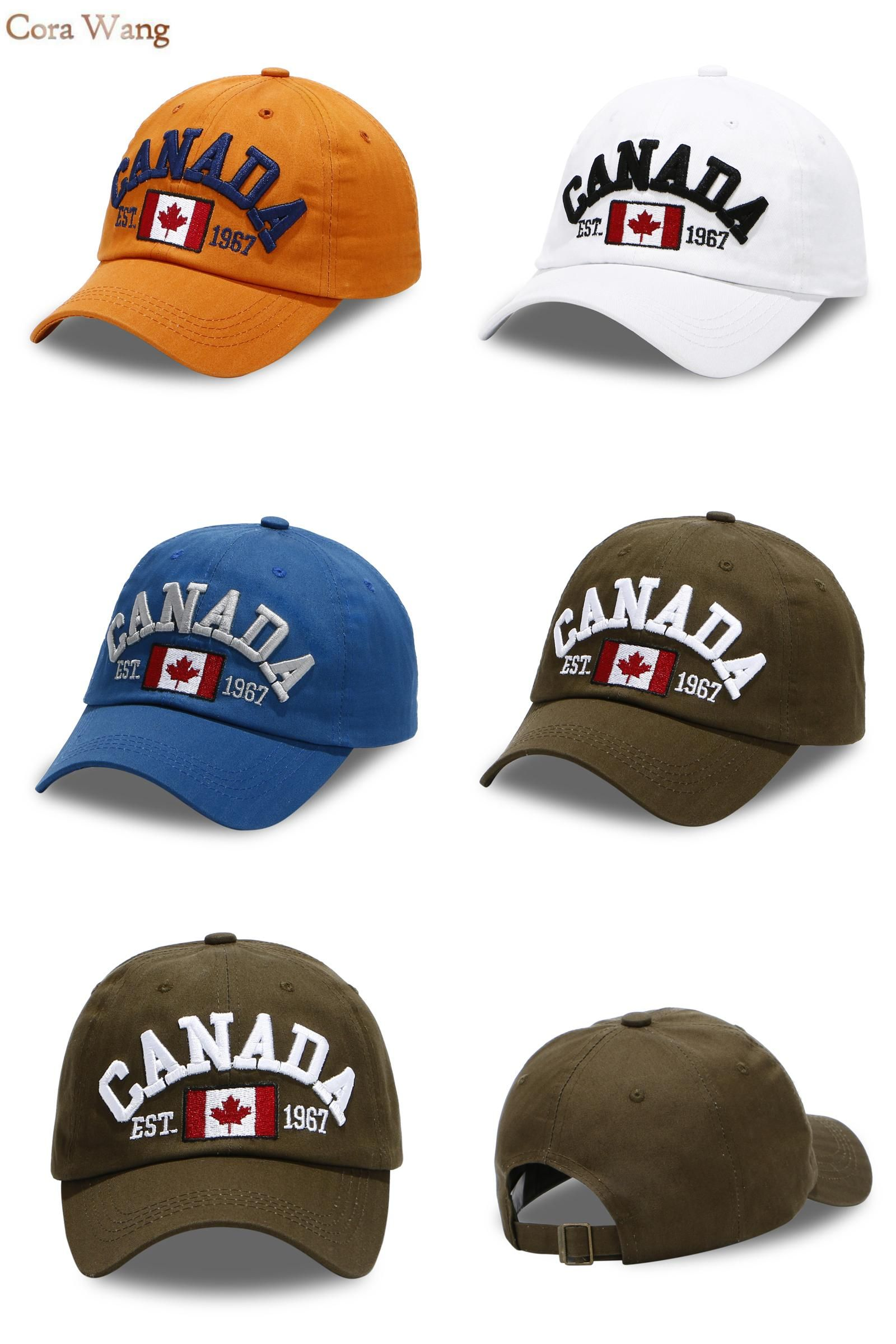 Visit to Buy  CANADA Baseball Caps Women Letters Patch Dad Hats Men  embroidered snapback ed9ea357b3a3