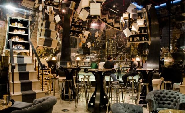 The Bookshop - soi 38. Looks like you've stepped into soemthing from Alice in Wonderland (until you see the condo outside the window...)